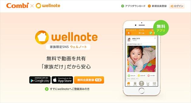 子供写真記録アプリwellnote(ウェルノート)トップ画面