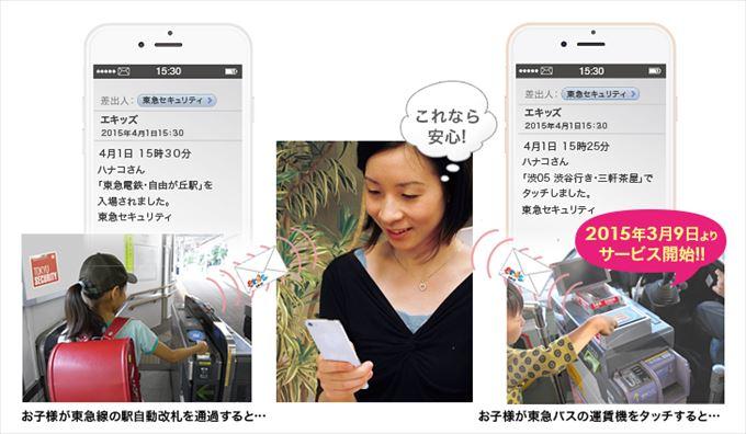 東急セキュリティ株式会社「エキッズ」サービス画像