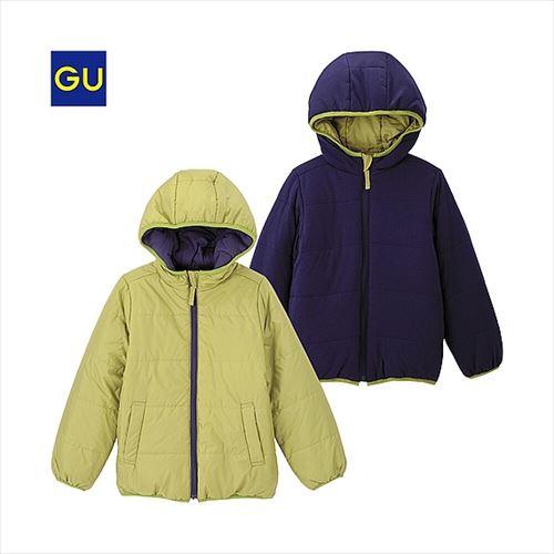 GU リバーシブル中綿フーディジャケット