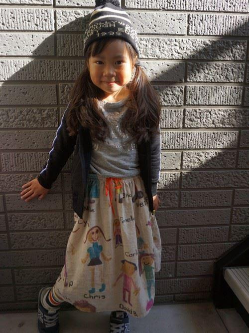 女の子の秋冬キッズコーデ画像5
