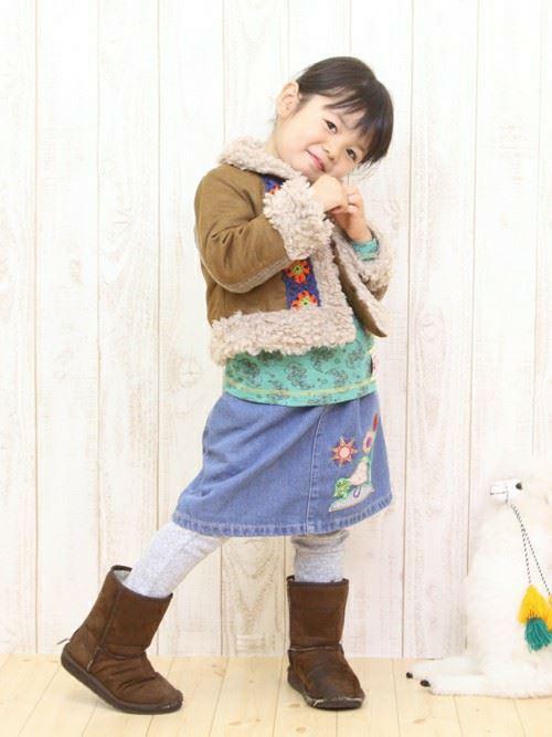 女の子の秋冬キッズコーデ画像6
