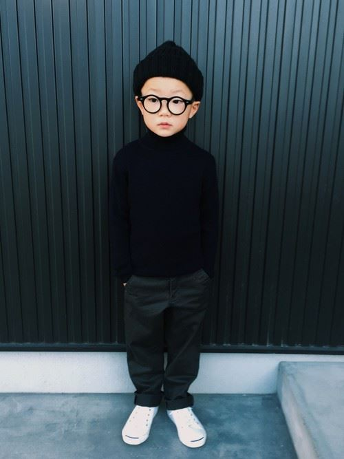男の子の秋冬キッズコーデ画像10