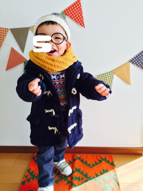 男の子の秋冬キッズコーデ画像1