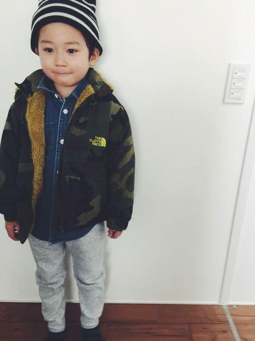 男の子の秋冬キッズコーデ画像4