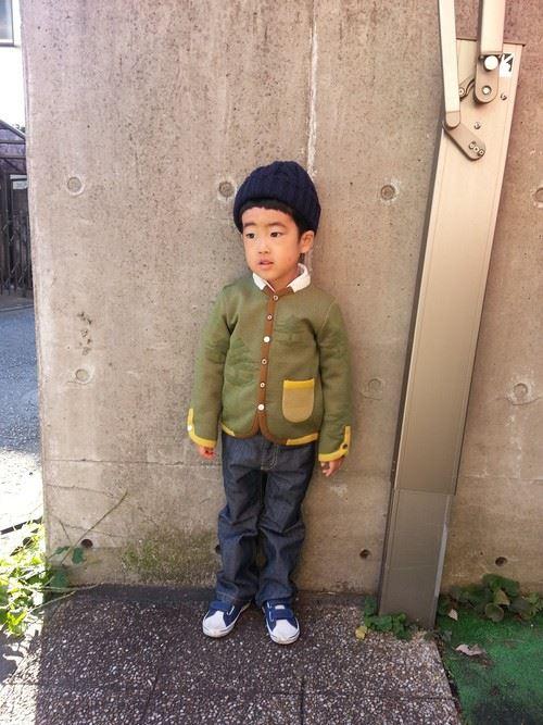 男の子の秋冬キッズコーデ画像12