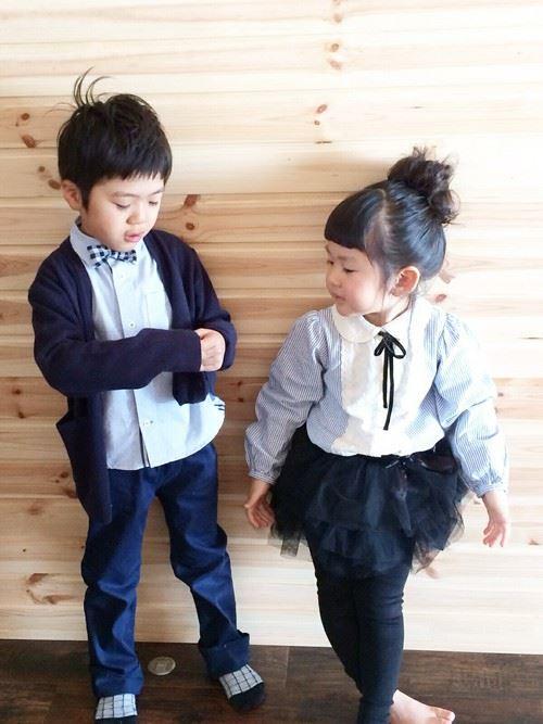 男の子と女の子の入園式コーディネート