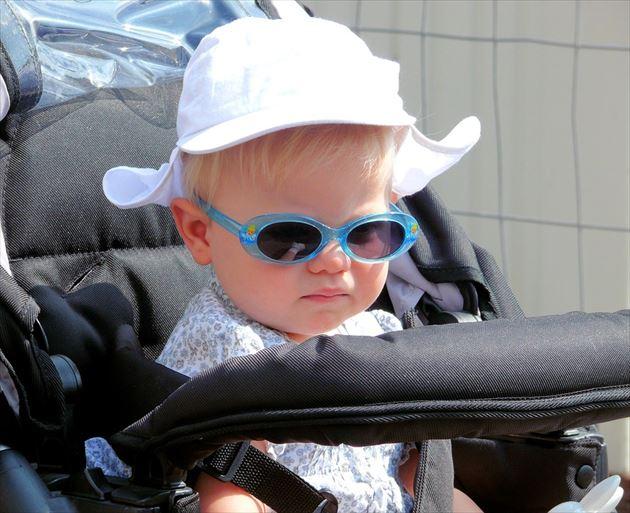 B型ベビーカーに乗った赤ちゃん