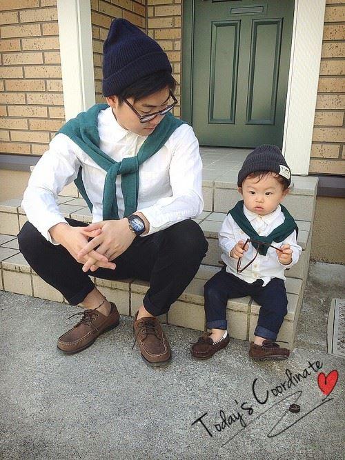 パパと子供の春夏親子コーディネート画像15