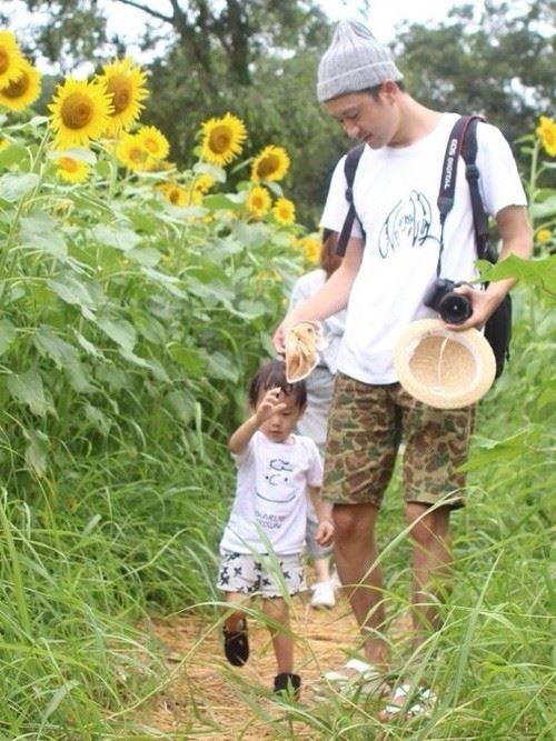 パパと子供の春夏親子コーディネートイメージ画像1