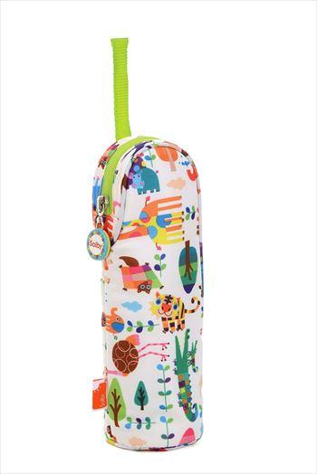 Solby ほ乳びんポーチ アニマルリーフ/ホワイト 【哺乳瓶・ペットボトル用】BGSB101205